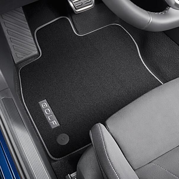 Volkswagen Velours mattenset Golf, met opschrift, voor + achter